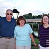 Bob, Nancy & Lenore in front of a Cape Fear Bridge