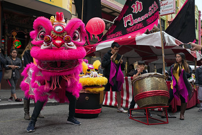 A Lion dance In Chinatown