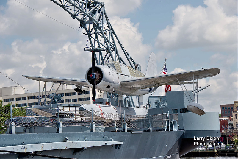 These planes landed in the water and then hoisted on deck