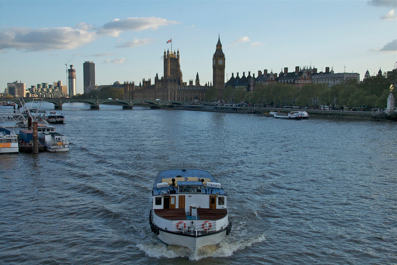 Traffic on the Thames.