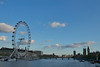 London's Eye on the Thames, opposite Houses of Parliament and Big Ben. No longer a foggy, grey city.