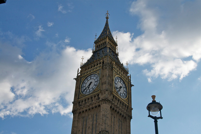 Big Ben--renamed Elizabeth Tower to mark the Queen's 60th year on the throne.