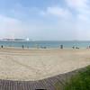 The sandy beach just off the Corniche promenade.