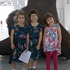 Clio, Anahita  (Ani) and Makeda, all dressed up for the museum.