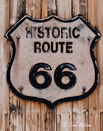 Old sign Historic Route 66