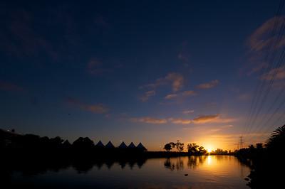 Sunrise over Flemington