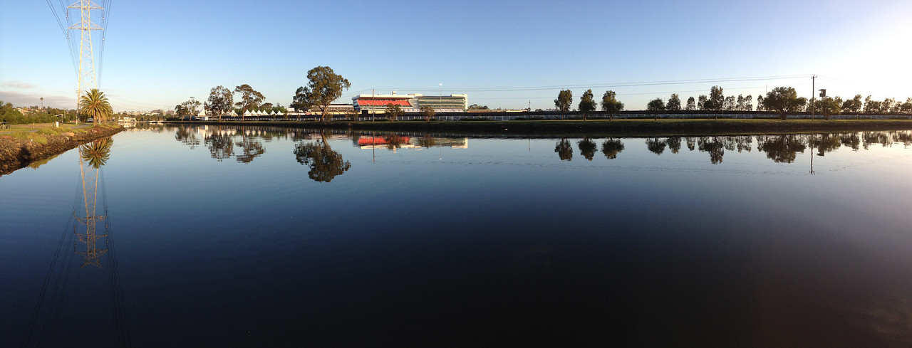 The quiet before Cup Day