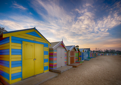 Bathing sheds, Brighton, Victoria