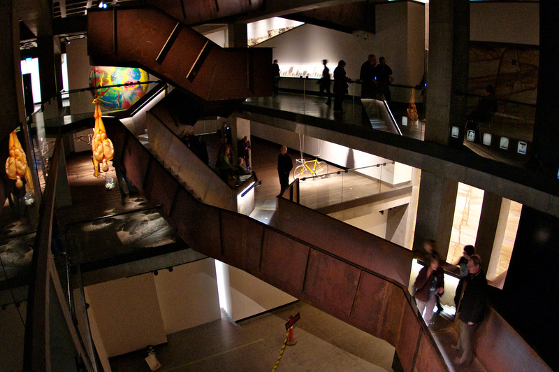 View of the galleries