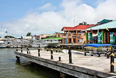 Belize City Riverfront Shopping