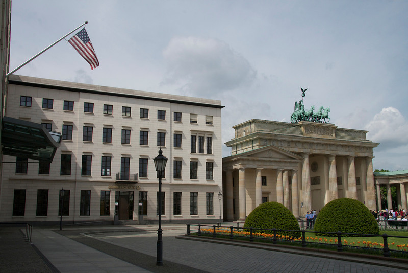 American Embassy on Pariser Platz, Brandenburg Gate