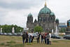 touring Berlin Mitte with Horst Bredekamp; Berlin Cathedral in background
