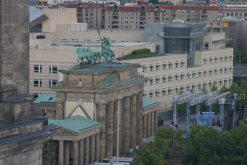 Brandenburg Gate, from the top of the Reichstag