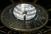 looking up  from inside the Bundestag chambers