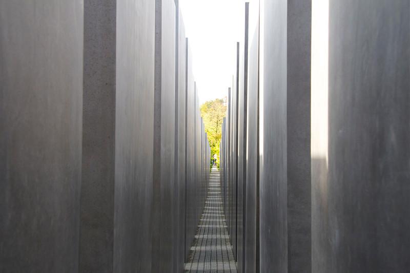 through the stelae, Holocaust Memorial