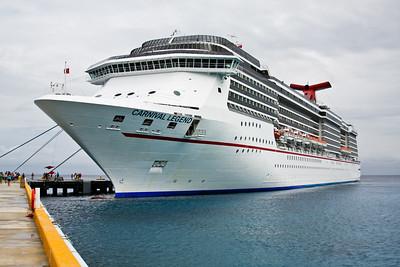 Docked in Cozumel, Mexico.