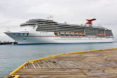Carnival Legend docked in Cozumel.