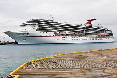 Carnival Legend docked in Cozumel.