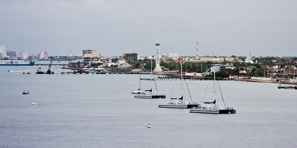 View of Cozumel from Carnival Legend deck.