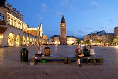 Old Town Square, Krakow, Poland Krakow.  (Cracow- Krak-off)