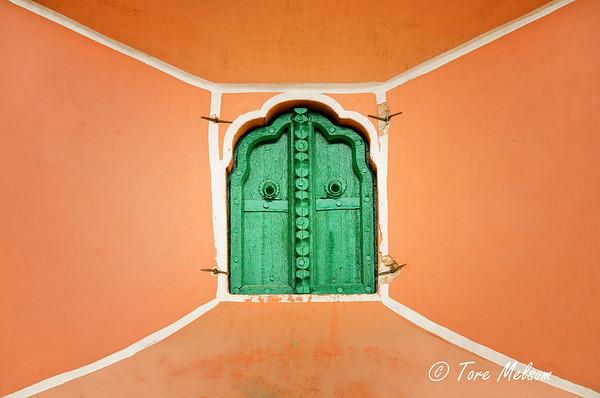 Window at Hawa Mahal, Jaipur, India