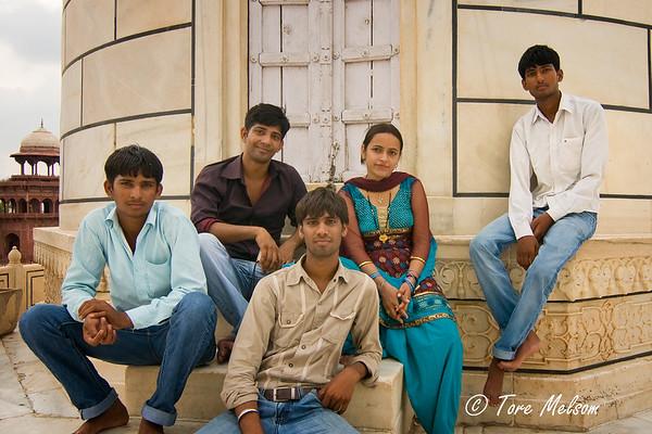 Teenagers at Taj Mahal, India