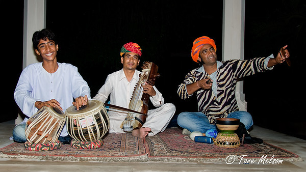 Music at Hotel, Agra, India