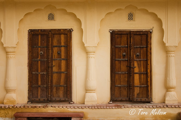 Window at Amber Fort, Jaipur, India