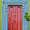 blue and red dublin door