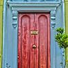 blue and red dublin door