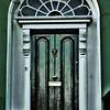 green and white dublin door