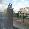 Outide the hotel room window, mysterious guy on horse? We kept forgetting to ask about him -