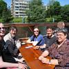 Sunday afternoon boat ride: Kai Epstude, Eliot, Katherine Stroebe, Bernard Nijstad, Pamela