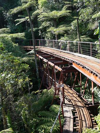 Double decker bridge, Driving Creek Railway