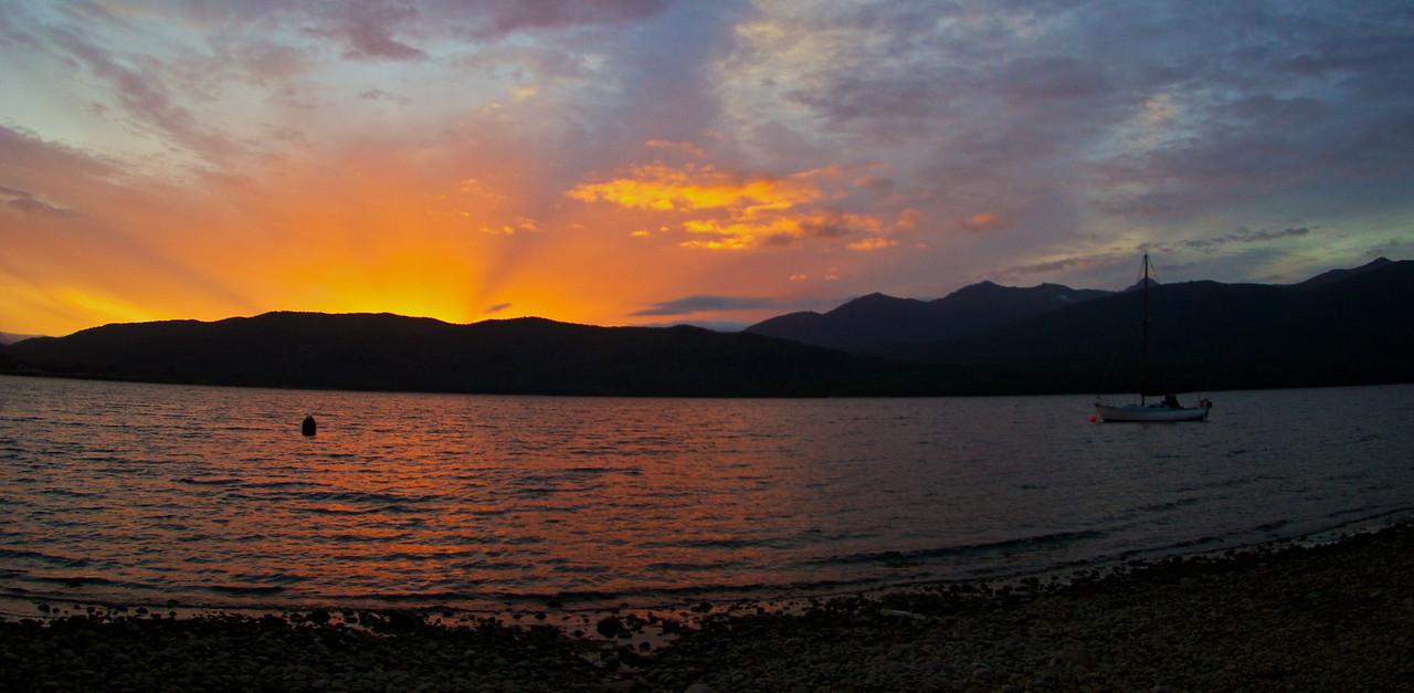 Sunset at Te Anau