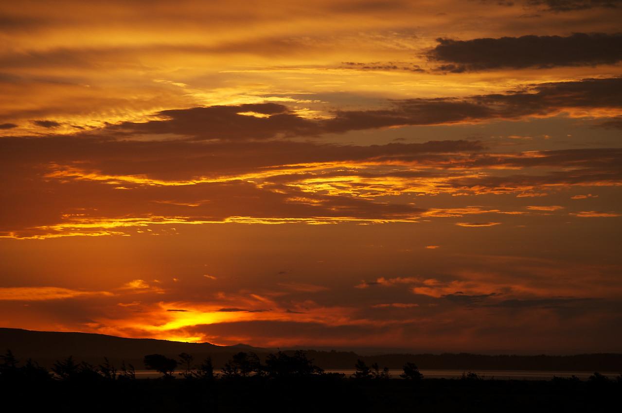 Sunset near Invercargill
