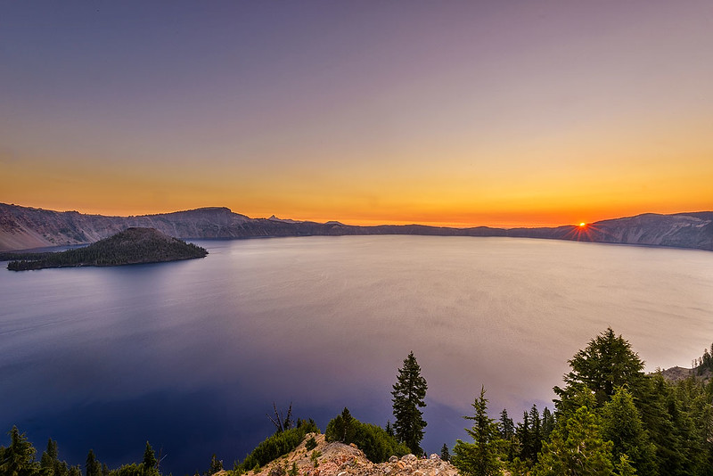 Crater Lake Sunrise