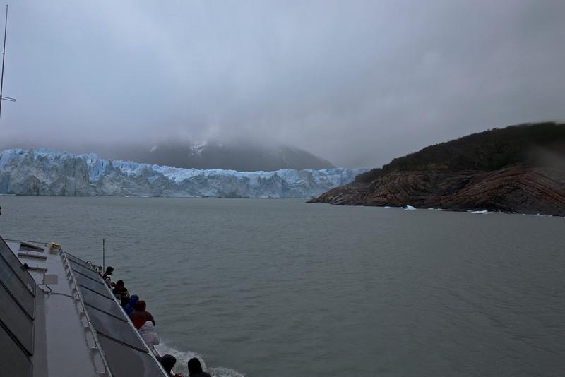 The Perito Moreno Glacier, located in Parque Nacional Los Glaciares, is moving 4.5-6 feet a day!