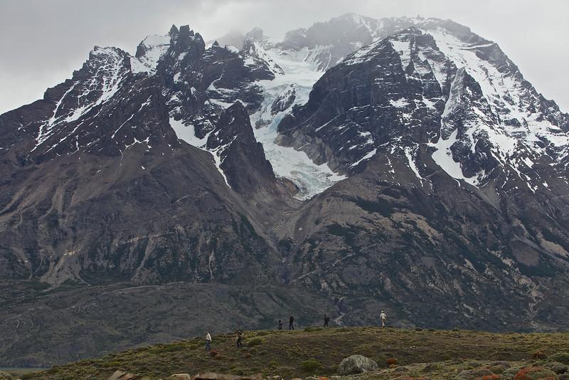 a glacier descends . . .