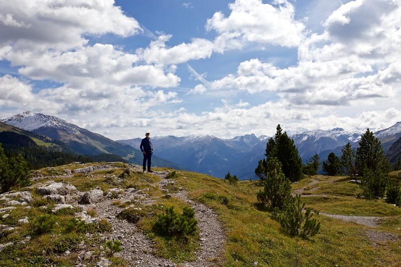 Steve, overlooking Val Müstair