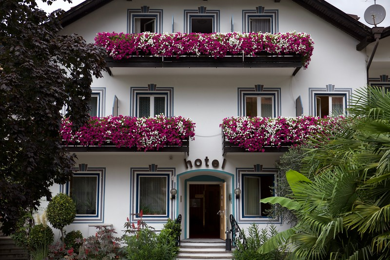 Hotel Markushof in the town of Ora, Südtirol. Although we were in Italy, we heard mostly German spoken.