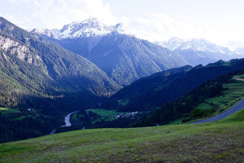 From Tschlin, looking down the valley at Seraplana.