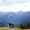 Colin and Magdalena at the Often Pass , Val Müstair in the background
