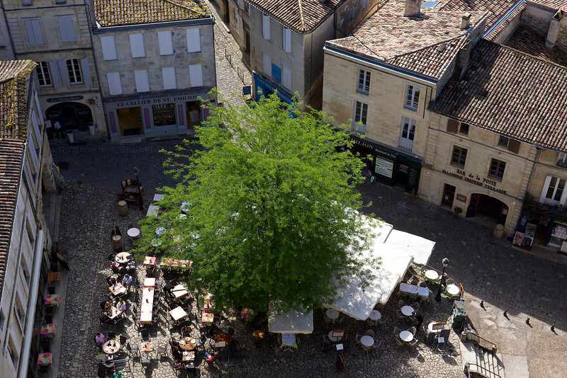 Morning, Place de LEglise-Monolithe, seen from the Bell Tower above.