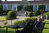 Enjoying the quiet of the  Relais du Chateau d'Arche, Sauternes.