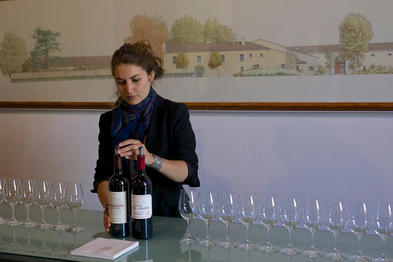 We tasted the 2006 Les Ormes des Pez and 2006 Lynch-Bages.