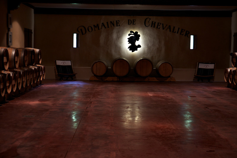 Domaine de Chevalier, where we tasted the 2012 red from the barrel; the 2004 red and the 2007 white.