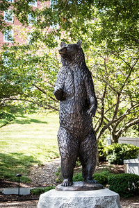 Statue of Objee, the Academy's mascot - Bear Plaza