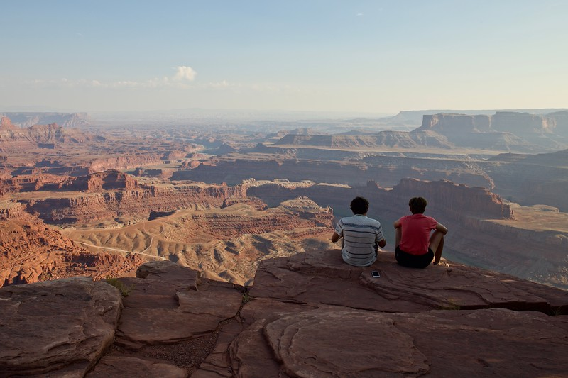 View from Dead Horse Point State Park, sunset