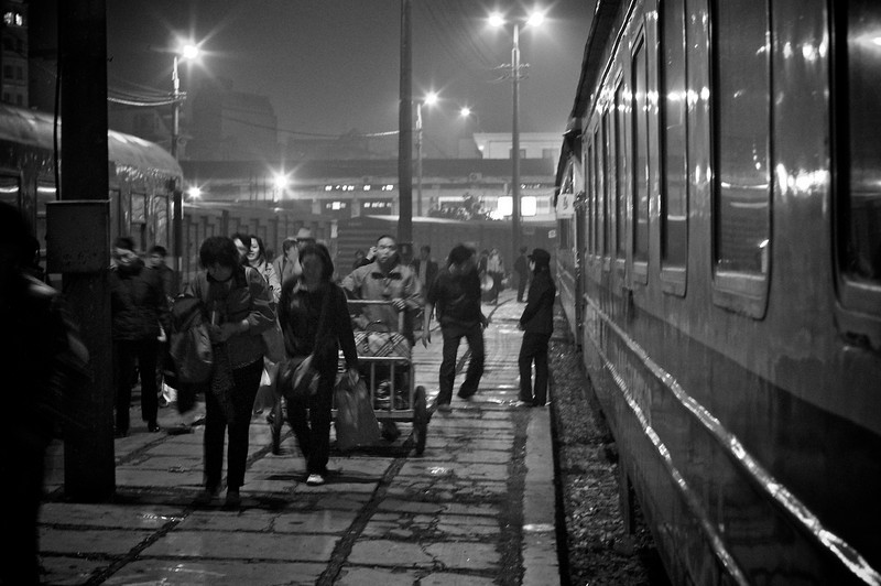 It all starts here: Hanoi train station towards Sapa